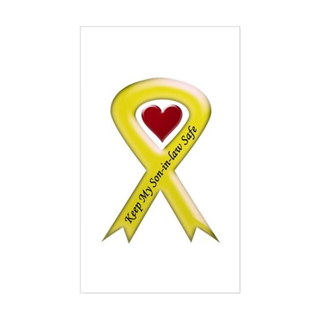 Keep My Son-in-law Safe Ribbon Sticker (Rectangula