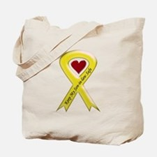 Keep My Son-in-law Safe Ribbon Tote Bag