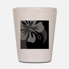 Hibiscus Black Hitch Cover Shot Glass