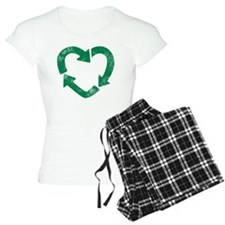 recycle heart 2 Pajamas