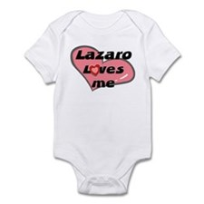 lazaro loves me  Infant Bodysuit