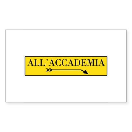 All'Accademia, Venice (IT) Rectangle Sticker