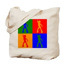 Disco Dancer Pop Art Tote Bag