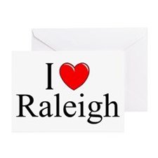 """""""I Love Raleigh"""" Greeting Cards (Pk of 10)"""