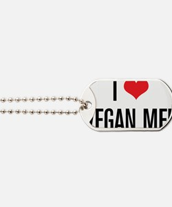 ILoveVeganMen_2Lines Dog Tags