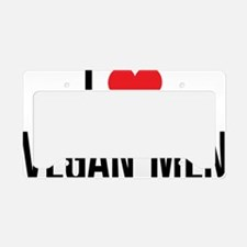 ILoveVeganMen_2Lines License Plate Holder