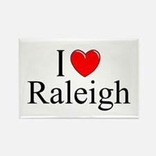 """""""I Love Raleigh"""" Rectangle Magnet"""