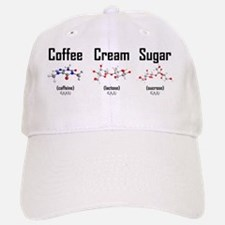Coffee, Cream and Sugar Molecule Mug Baseball Baseball Cap