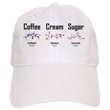 Coffee, Cream and Sugar Molecule Mug Baseball Cap