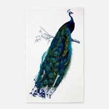 Colorful Peacock Perched Graphic 3'x5' Area Rug