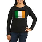 Ireland Flag Women's Long Sleeve Dark T-Shirt