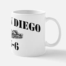 sdiego black letters Mug