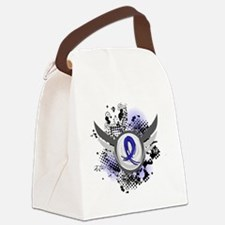 D Blue Ribbon With Wings Huntingt Canvas Lunch Bag
