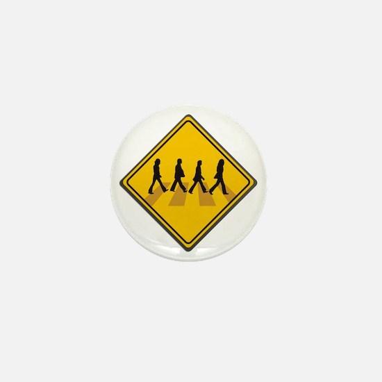 Abbey Road Xing Mini Button