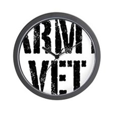 Army veteran Wall Clock