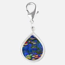 443 Monet WL1916 Silver Teardrop Charm