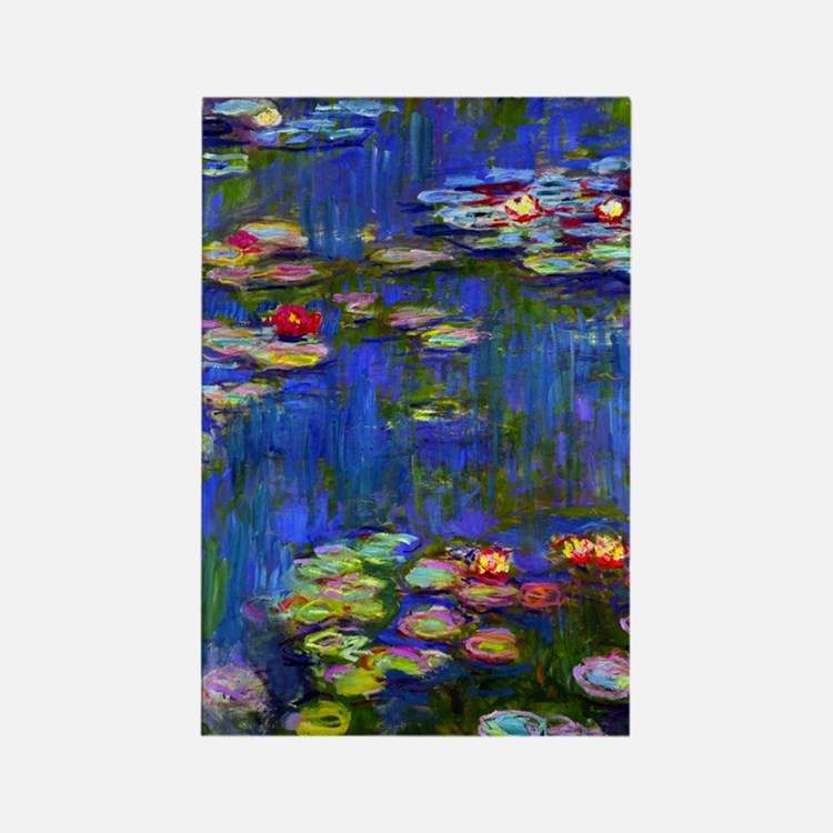 443 Monet WL1916 Rectangle Magnet