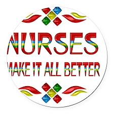 Nurse Appreciation Round Car Magnet