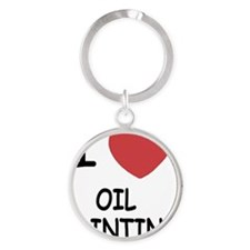 OIL_PAINTING Round Keychain