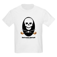 Dead serious about golf Kids T-Shirt