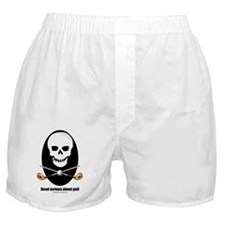 Dead serious about golf Boxer Shorts