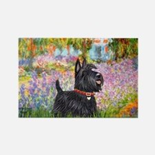 Garden-Scottish Terrier Rectangle Magnet