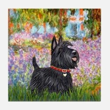 Garden-Scottish Terrier Tile Coaster