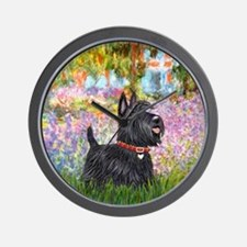 Garden-Scottish Terrier Wall Clock