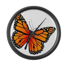 monarch-butterfly Large Wall Clock