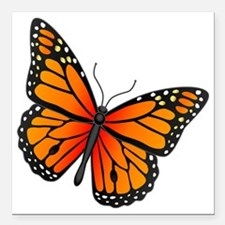 """monarch-butterfly Square Car Magnet 3"""" x 3"""""""