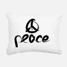 Black Peace Sing Rectangular Canvas Pillow