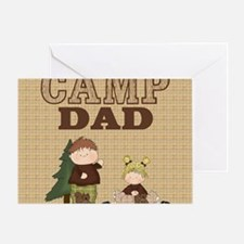 Camp Dad Blanket (with Squirrels) Greeting Card