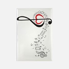 Love Music Design Rectangle Magnet