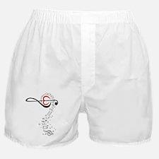 Love Music Design Boxer Shorts