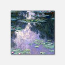 "Monet Shower Square Sticker 3"" x 3"""