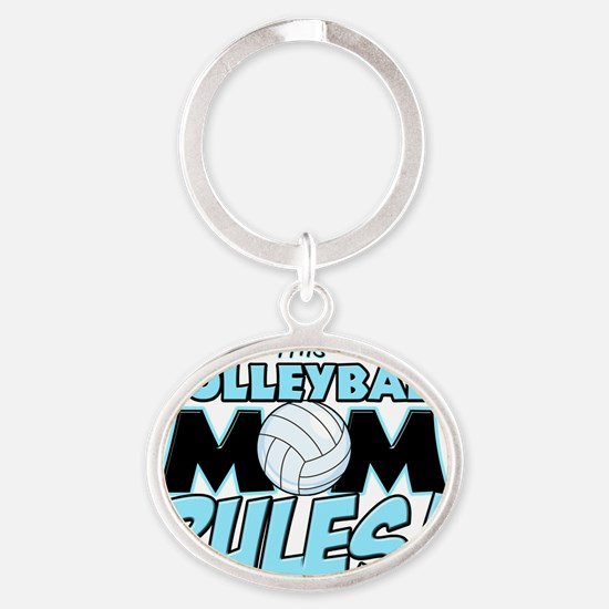 This Volleyball Mom Rules Oval Keychain