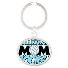 This Volleyball Mom Rocks Oval Keychain