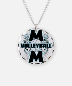 Volleyball Mom (cross) Necklace