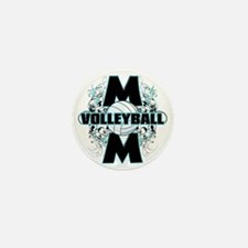 Volleyball Mom (cross) Mini Button