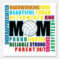 """What is a Volleyball Mom Square Car Magnet 3"""" x 3"""""""