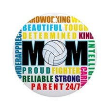 What is a Volleyball Mom Round Ornament