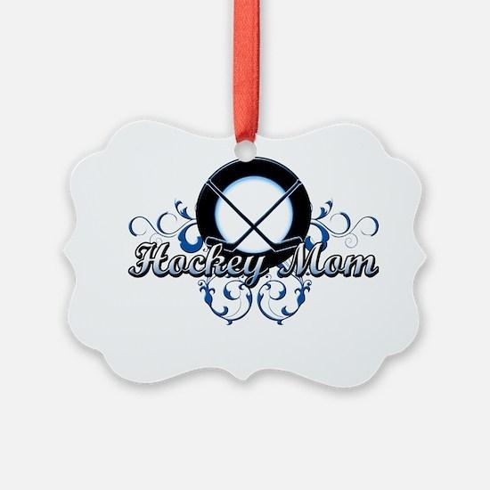 Hockey Mom (puck) Ornament