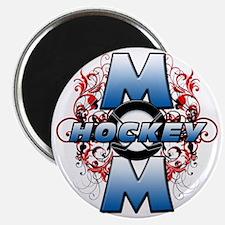 Hockey Mom (cross) Magnet
