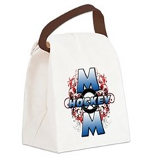 Hockey Mom (cross) Canvas Lunch Bag
