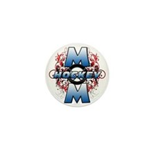 Hockey Mom (cross) Mini Button