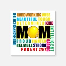 """What is a Tennis Mom Square Sticker 3"""" x 3"""""""