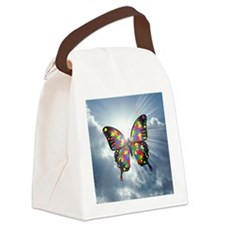 autism butterfly sky - square Canvas Lunch Bag