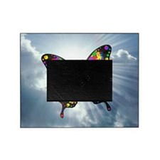 autism butterfly sky - square Picture Frame