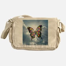 autism butterfly sky - square Messenger Bag