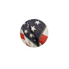 American Flag, Vintage, Mini Button